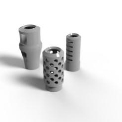Imprimir en 3D gratis Frenos de bozal de artillería de 28 mm., jdteixeira