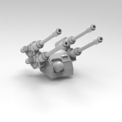 Imprimir en 3D gratis Torreta de defensa aérea Hydra pesada con un radar posicionable, jdteixeira