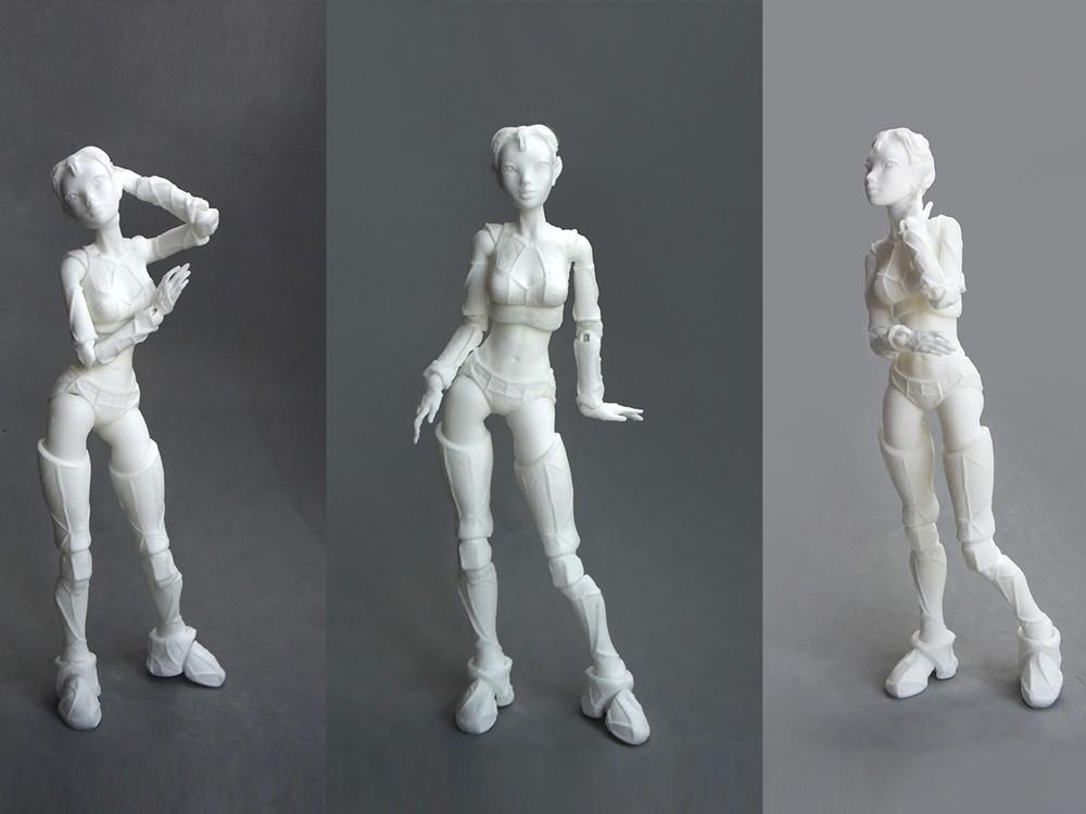 "03 lantea _nylon laser.jpg Download STL file Jointed Doll ""Lantea"" • 3D printer model, Shira"