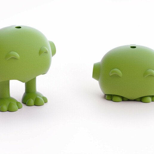 potitus bot ojos sonr  prp.jpg Download STL file Tiny Pets Bowling • 3D printable object, Shira