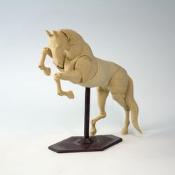 002 IMG_9775_1.jpg Download STL file Jointed Horse • 3D printing model, Shira