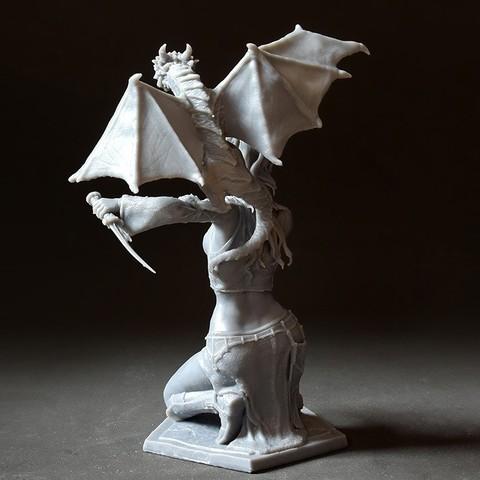 05 DSC_750p0.jpg Download STL file Woman and Dragon • 3D printable design, Shira