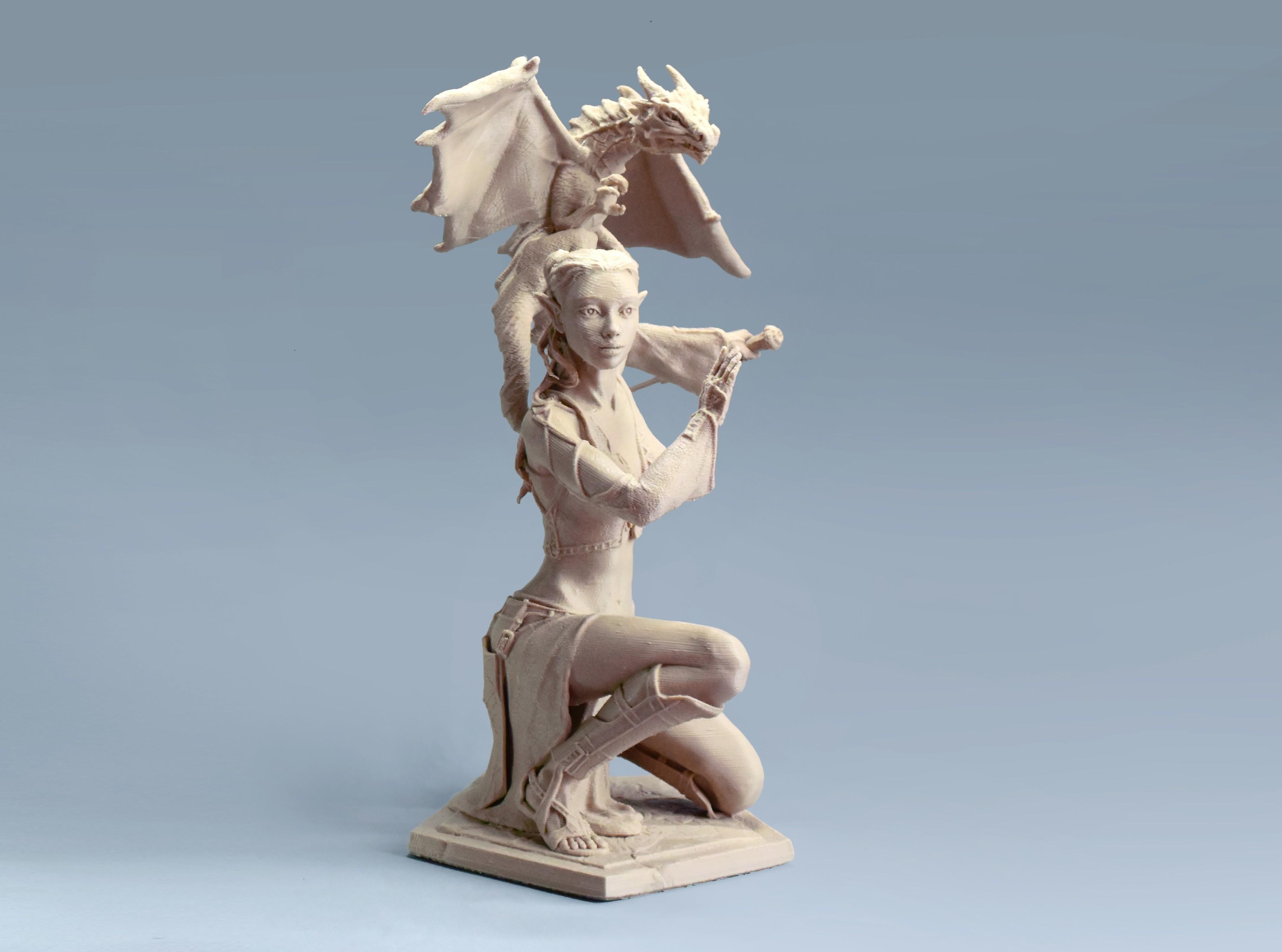 05  da DSC_7353p.jpg Download STL file Woman and Dragon • 3D printable design, Shira