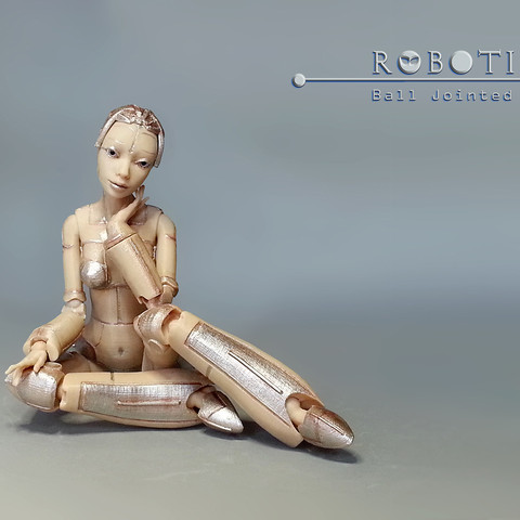 p_04.jpg Download free STL file Robot woman - Robotica • Model to 3D print, Shira