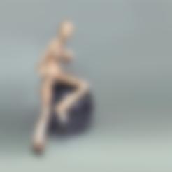 solo_mirar.stl Download free STL file Robot woman - Robotica • Model to 3D print, Shira