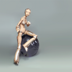 Download free 3D printing models Robot woman - Robotica, Shira