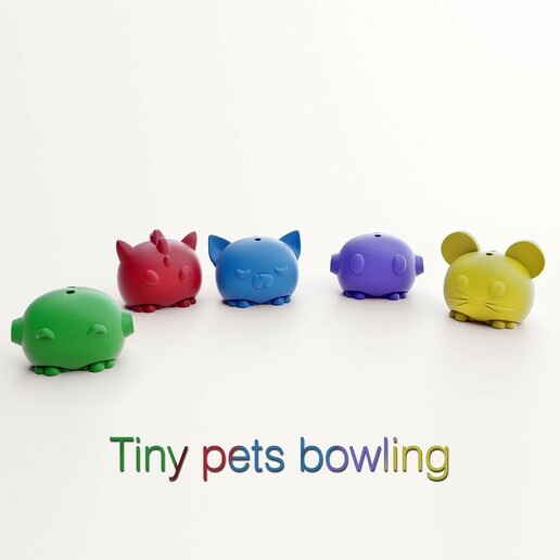 potitus 02pp.jpg Download STL file Tiny Pets Bowling • 3D printable object, Shira