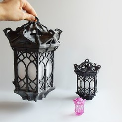 05 DSC_7706p.jpg Download free STL file Gothic Lantern • 3D printing model, Shira