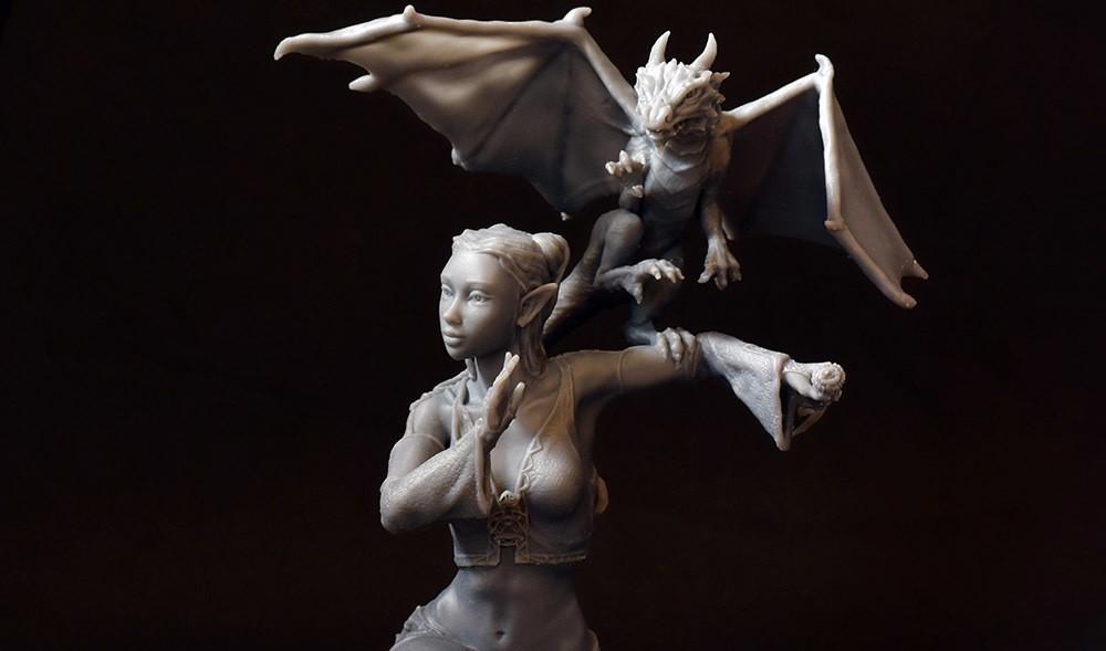 02 DSC_7525p.jpg Download STL file Woman and Dragon • 3D printable design, Shira