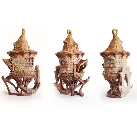 archivos stl Birdhouse -3 pieces, Shira