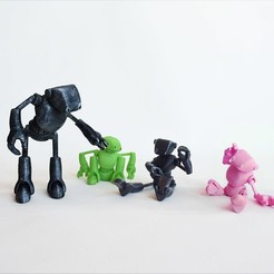 Free 3d printer designs Ankly Robot - 3d Printed Assembled, Shira