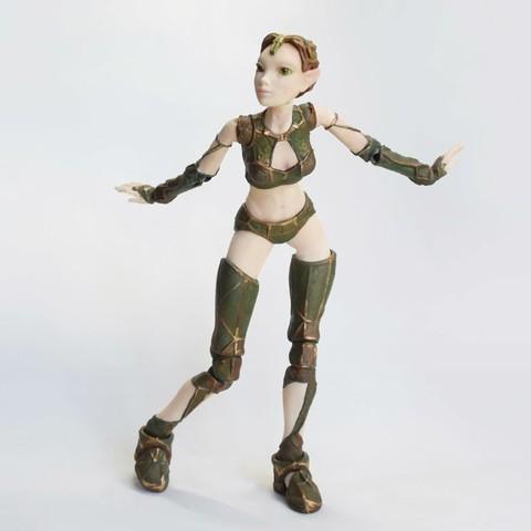 "011 lantea _nylon laser.jpg Download STL file Jointed Doll ""Lantea"" • 3D printer model, Shira"