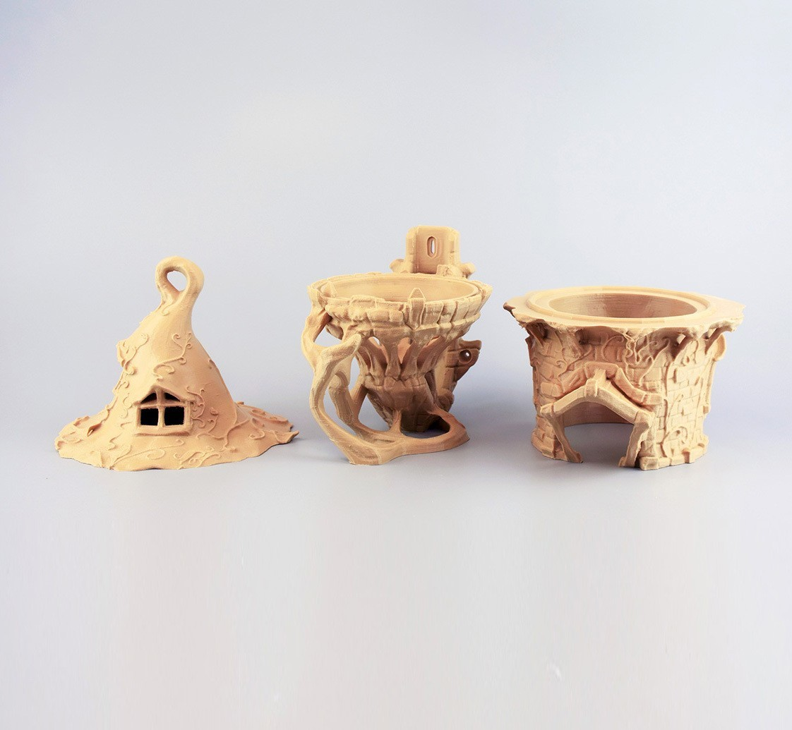p0001 pp.jpg Download STL file Birdhouse -3 pieces • 3D printer design, Shira