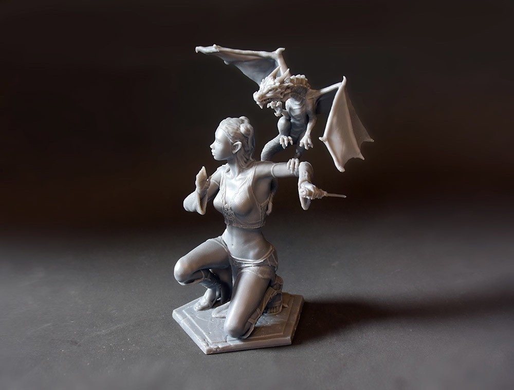 01DSC_7465p.jpg Download STL file Woman and Dragon • 3D printable design, Shira