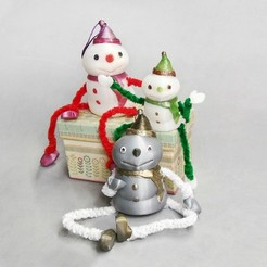 Free STL Decorative Snowman - Container, Shira