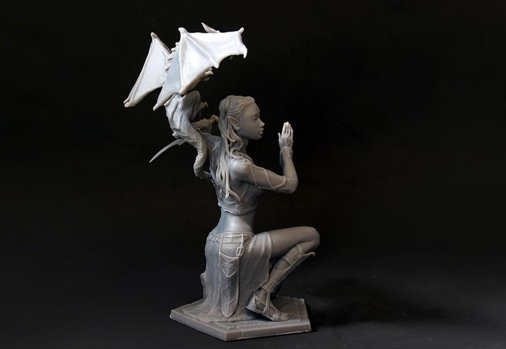 03 DSC_7506p.jpg Download STL file Woman and Dragon • 3D printable design, Shira