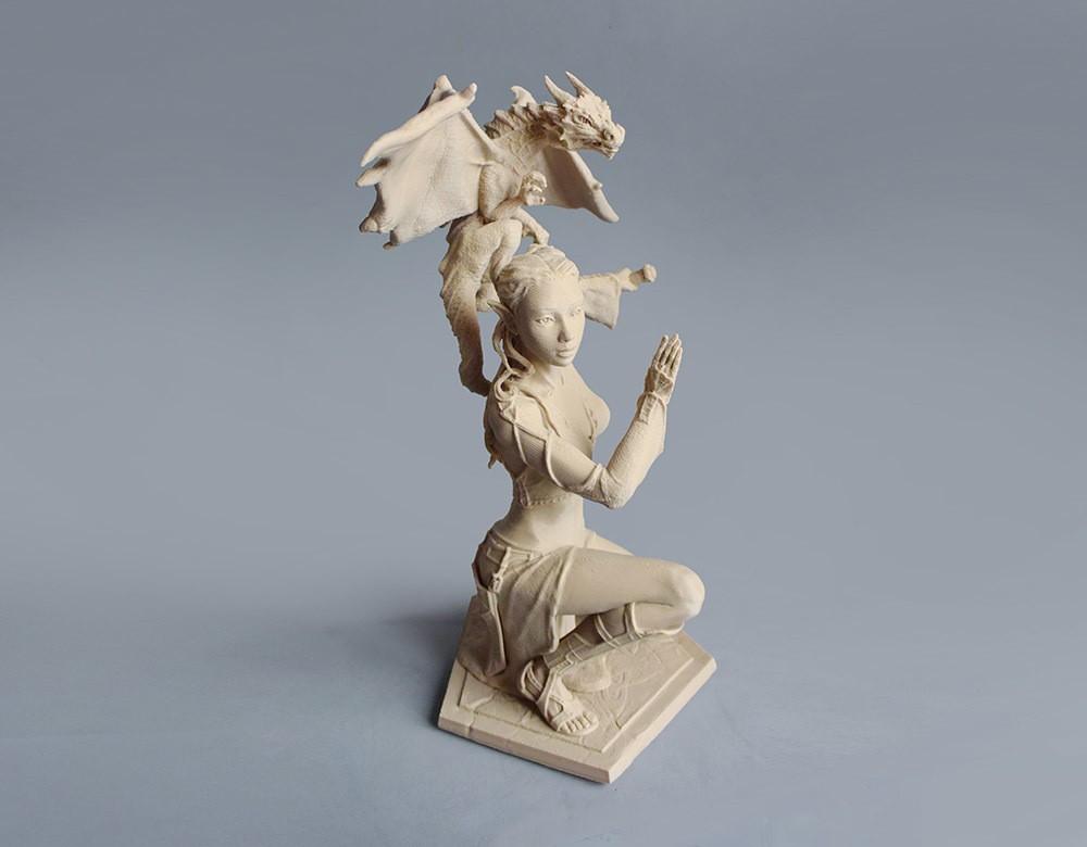 06 d DSC_7356 pp.jpg Download STL file Woman and Dragon • 3D printable design, Shira