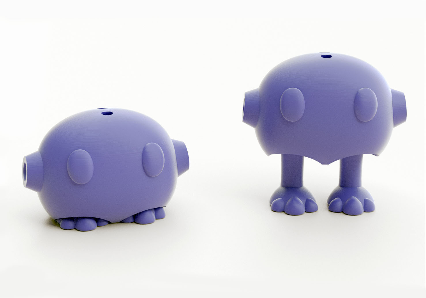 potitus bot ojos grandes  prp.jpg Download STL file Tiny Pets Bowling • 3D printable object, Shira
