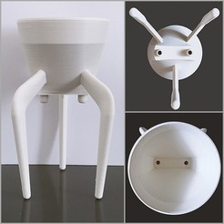 3d print files 3-POD for Over Coffee Maker, chauvinxavier