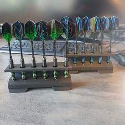 Download free STL file Dart Holder Dart Rackstand for soft and steel Darts • Model to 3D print, DREIDK