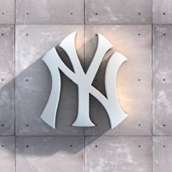 Download free STL file New York Yankee Logo • 3D printer model, DREIDK