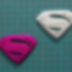 Download free STL file Man of Steel Superman Logo • 3D printable object, DREIDK