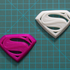 Free 3D printer model Man of Steel Superman Logo, DREIDK