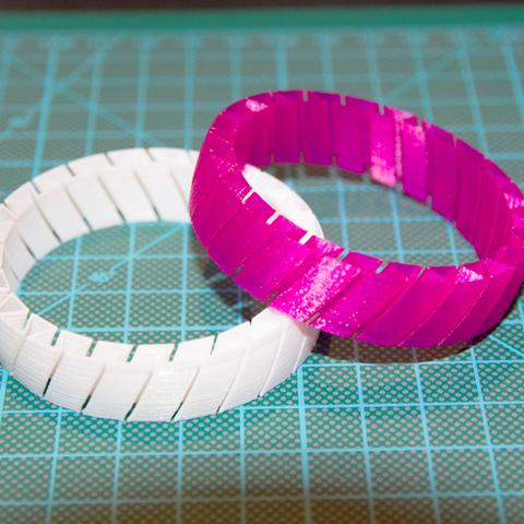Impresiones 3D gratis Pulsera flexible V33, DREIDK