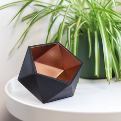 Icosahedron TEALIGHT HOLDER.png Download free STL file Icosahedron Tealight Holder • 3D printable model, DREIDK