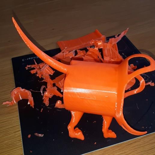 20200128_175214.jpg Télécharger fichier OBJ gratuit Google Home Mini Dog • Objet pour imprimante 3D, JakG