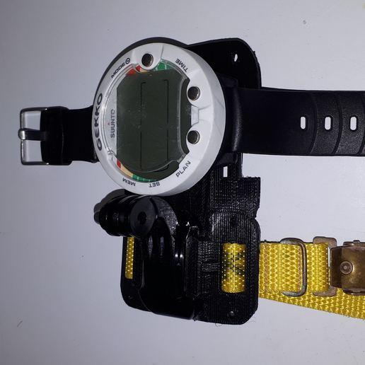 20181024_084551.jpg Download free 3MF file GoPro Wrist Mount for Scuba Diving • 3D print design, JakG