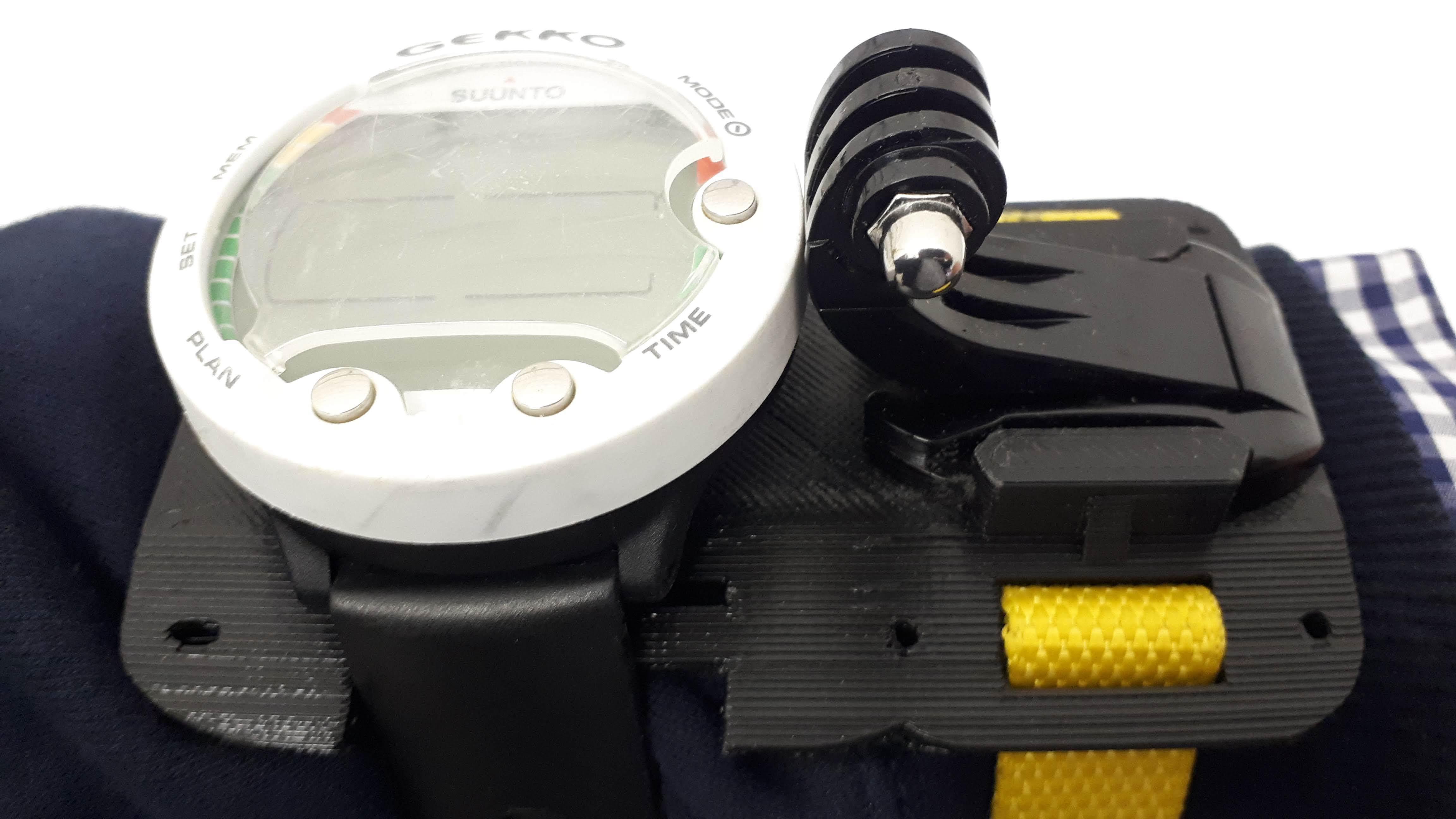 20181024_084716.jpg Download free 3MF file GoPro Wrist Mount for Scuba Diving • 3D print design, JakG
