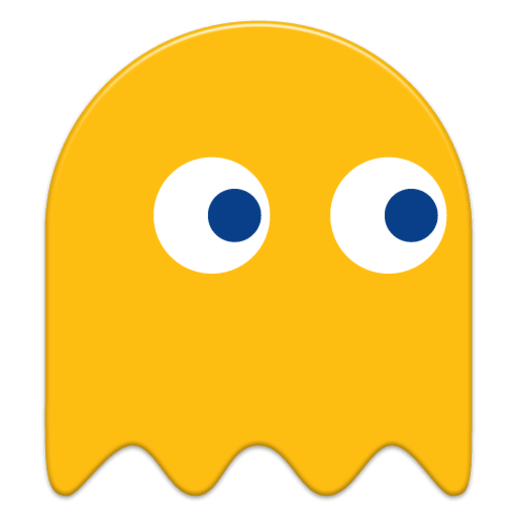 pacman-yellow-ghost.png Download free 3MF file Pacman and Ghost earrings • 3D printer template, JakG