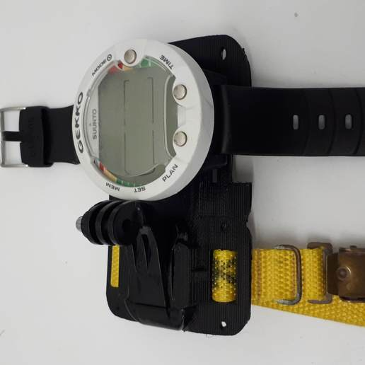 20181024_084545.jpg Download free 3MF file GoPro Wrist Mount for Scuba Diving • 3D print design, JakG