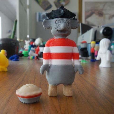 Free 3d printer model Pie-Rat, yourwildworld
