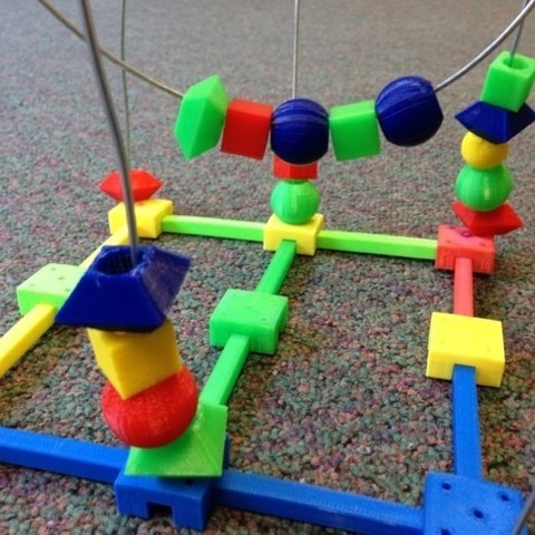 beadtoy3.JPG Download free STL file Bead Roller Coaster • 3D printable template, yourwildworld
