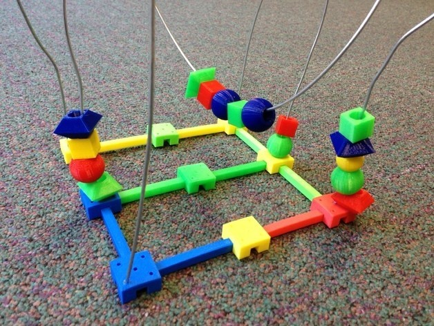 beadtoy2.JPG Download free STL file Bead Roller Coaster • 3D printable template, yourwildworld