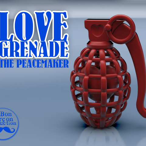 Free stl file LOVE GRENADE -the peacemaker-, BonGarcon