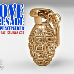 Free STL file LOVE GRENADE V2.0 [Cupid's Tactical Gear], BonGarcon