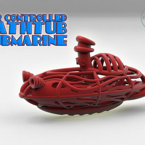 Free 3D printer files AIR-AQUARACER -Balloon-air powered submarine-, BonGarcon