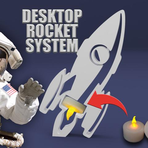 Free DESKTOP ROCKET 3D model, BonGarcon