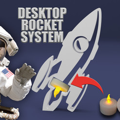 Free DESKTOP ROCKET 3D model, BonGarcon