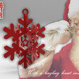 Free 3d printer files SANTA STAR -with a Tingling Heart inside-, BonGarcon