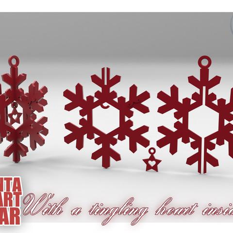 SantaStar-02.jpg Download free STL file SANTA STAR -with a Tingling Heart inside- • 3D printer object, BonGarcon