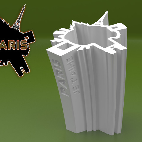 Free 3d printer model SKYLINE VASE of PARIS, BonGarcon