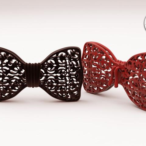 Bon_Garcon_BowTie.jpg Download free STL file Fancy Bow Tie VERSION ONE • 3D printing design, BonGarcon