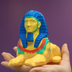 Free stl Multi-color Sphinx, MosaicManufacturing