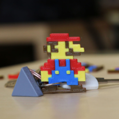 Free stl files Multi-Color Mario Keychain, MosaicManufacturing
