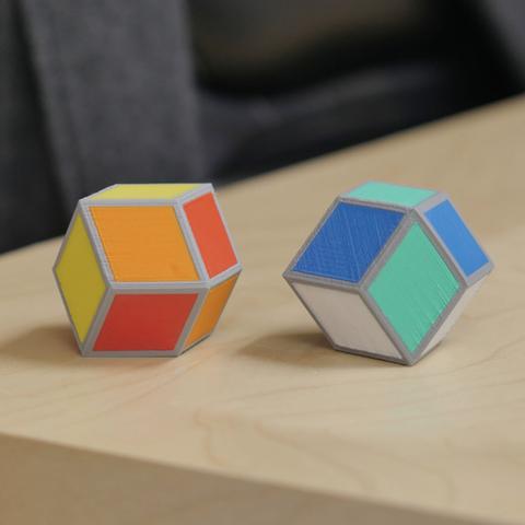 Capture d'écran 2016-12-01 à 10.48.31.png Download free STL file Cube Illusion (Rhombic Dodecahedron) • 3D printer template, MosaicManufacturing