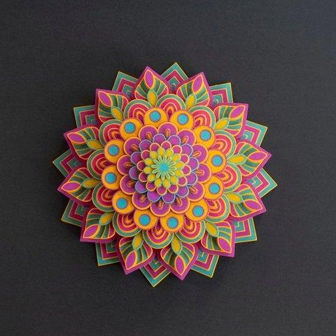8ae9528dafbad3066aa7bf5a6f38de3f_display_large.jpg Télécharger fichier STL gratuit Mandala multicolore • Objet pour imprimante 3D, MosaicManufacturing